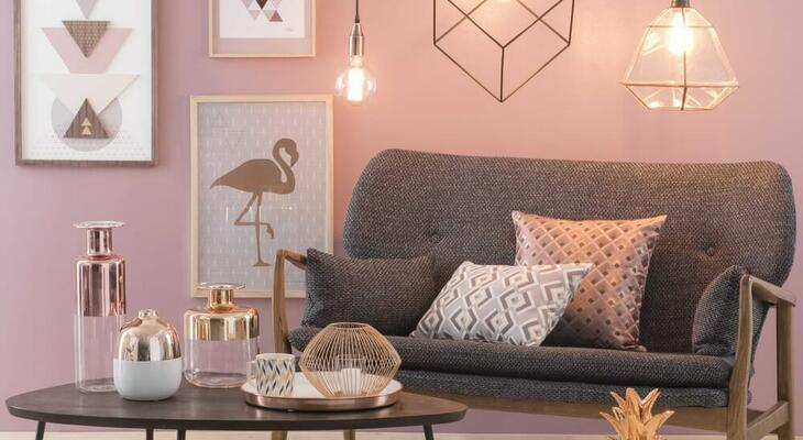 2018 új lakás dekorációs színe a rose gold. Vajon mit