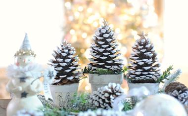 Tobozbó karácsonyfa dísz