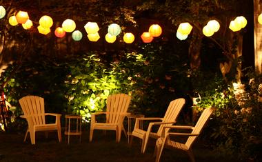 Kültéri világítás ötletek kertbe