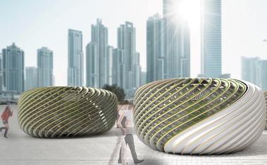Oxigéntermelő algapavilonokat készített a magyar építész. Búcsút inthetünk a szmognak!