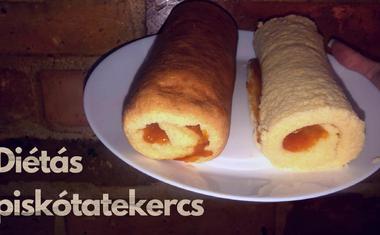 Pár egyszerű hozzávalóból ISTENI sütemény: Diétás piskótatekercs