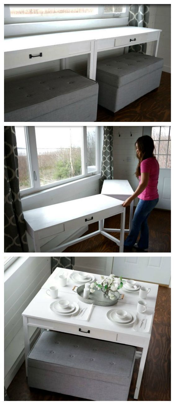 Best 25 Space Saver Dining Table Ideas On Pinterest  Space Saver Beauteous Space Saver Dining Room Table Design Decoration